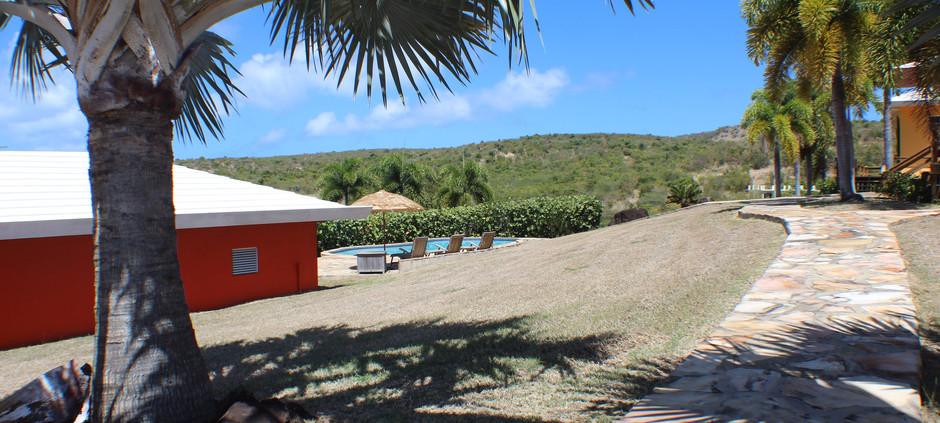 Storage shed/car port/pool