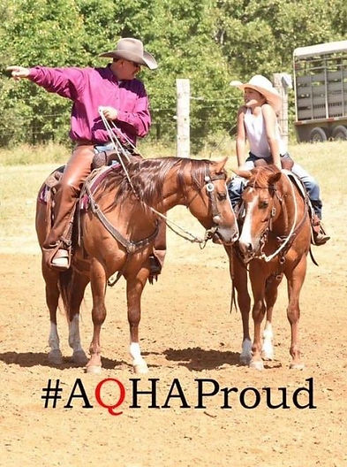 Jason Kopischke and student. Jason is an AQHA Professional Horseman.