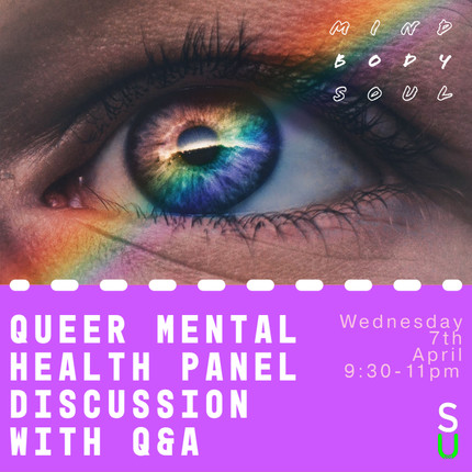 MBS - Queer Mental Health Panel Discussion with Q&A