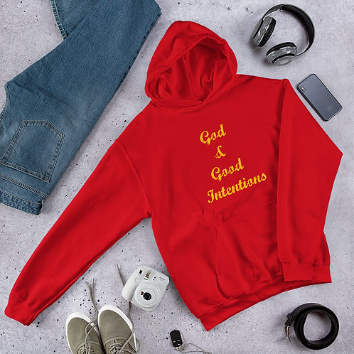"Unisex ""God & Good Intentions"" Hoodie"