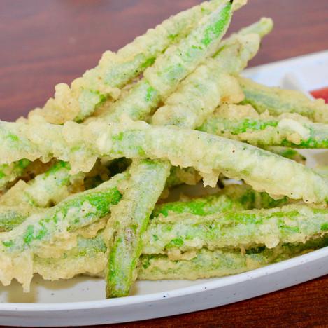 Fried green beans tempura