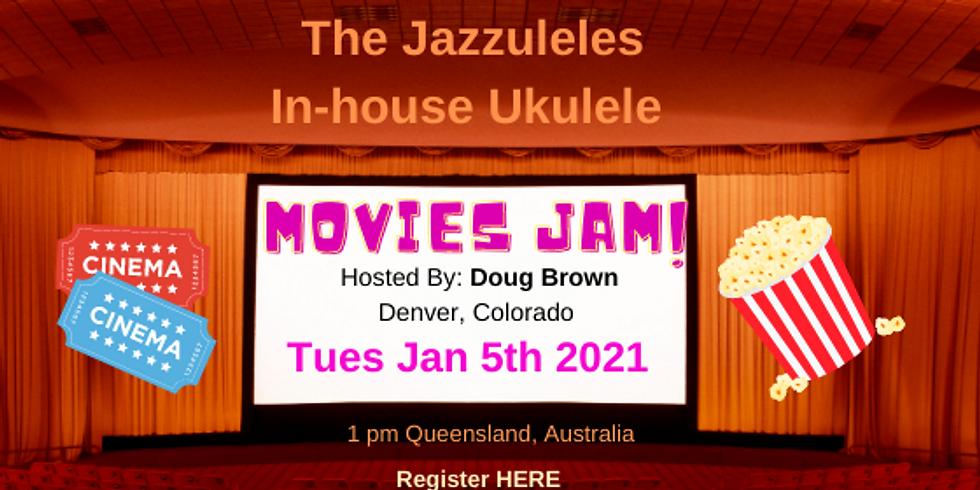 """The Jazzuleles In-House """"Movies"""" Ukulele Jam"""