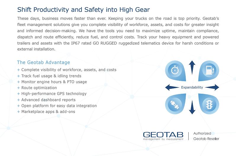 Improve Fleet Productivity & Safety