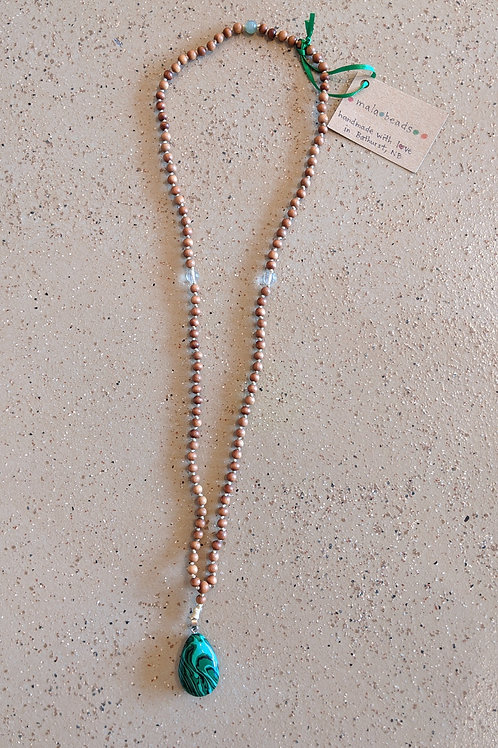 Handmade Mala Bead Necklace