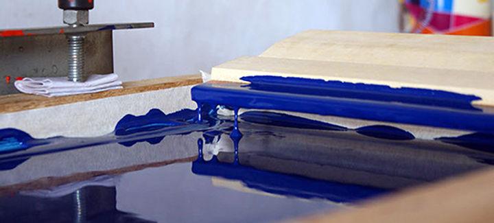 registro do prcesso de impressão em serigrafia