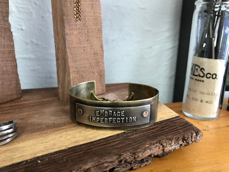 Maker's Story: Lilacpop Studio Brass Stamped Bracelets