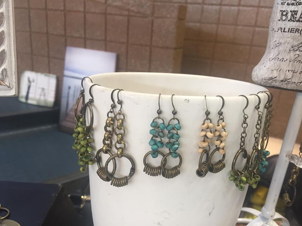 Sterling Silver earrings handmade by Lilacpop Studio in Ferndale, MI.