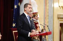 Palabras de Su Majestad el Rey en el acto solemne conmemorativo del 40º Aniversario de la Constituci