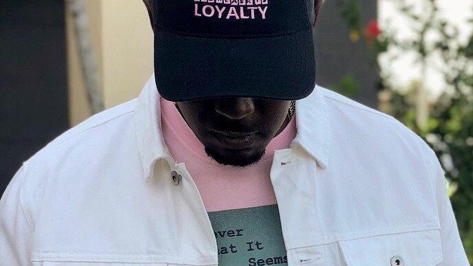 """Embrace The Lifestyle""Hat (Vintage Black & Light Pink)"