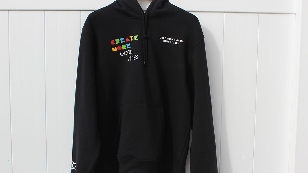 """Create More Good Vibes"" Hoodie (Black)"