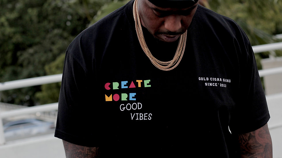 """Create More Good Vibes"" T-Shirt (Black)"