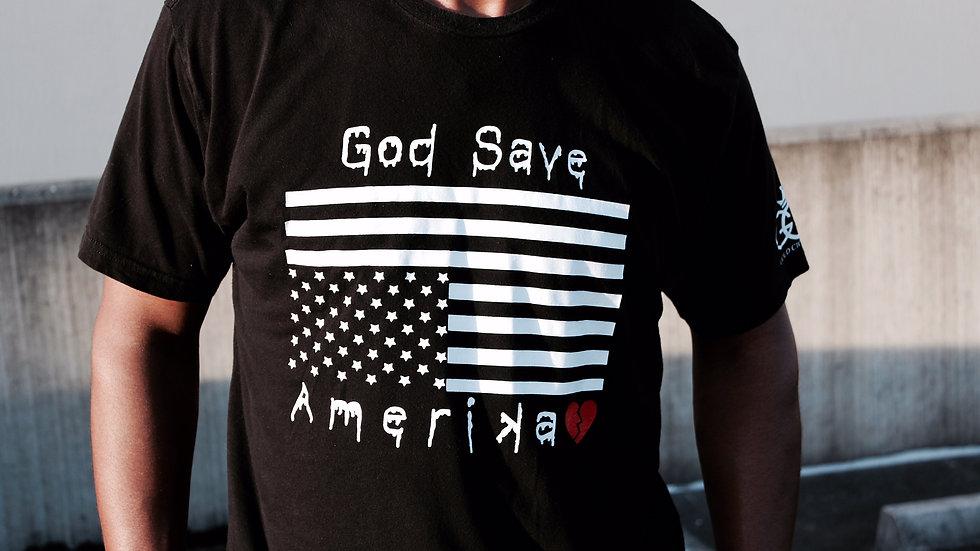 God Save Amerika T-Shirt (Black)
