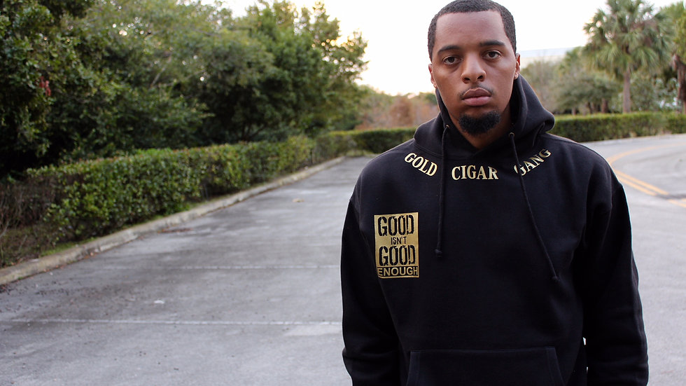 Good Isn't Good Enough Hoodie (Black & Gold)