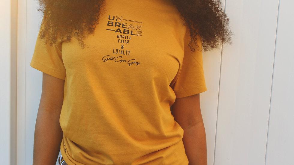 """Unbreakable""T-Shirt (Antique Gold)"