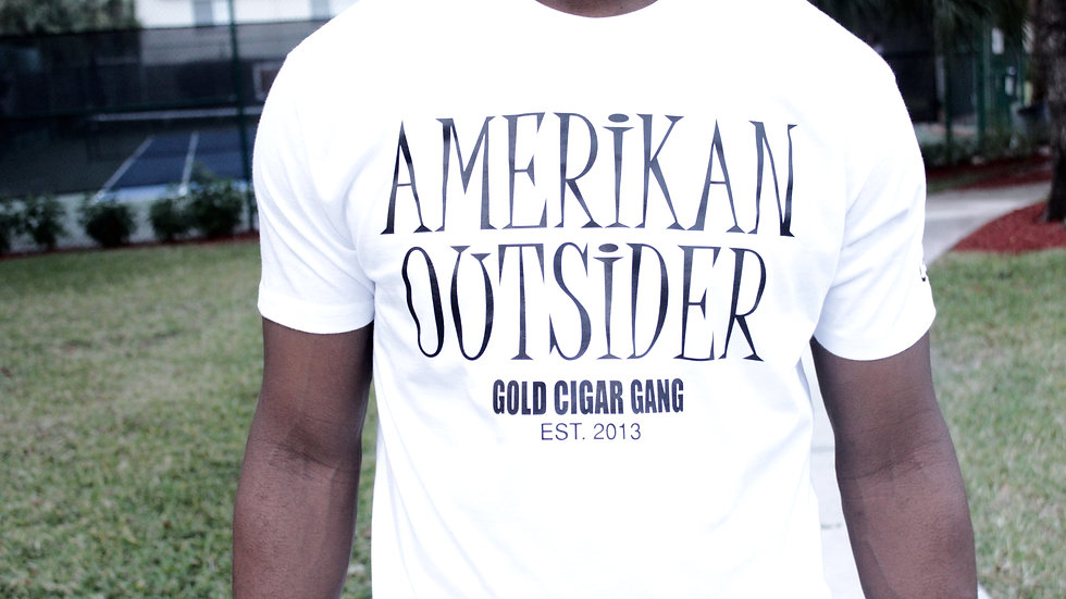 Amerikan Outsider T-Shirt (White)