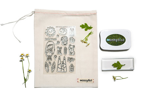 Mossylist Exclusive Photopolymer Stamp Starter Kit of Sun and Moon