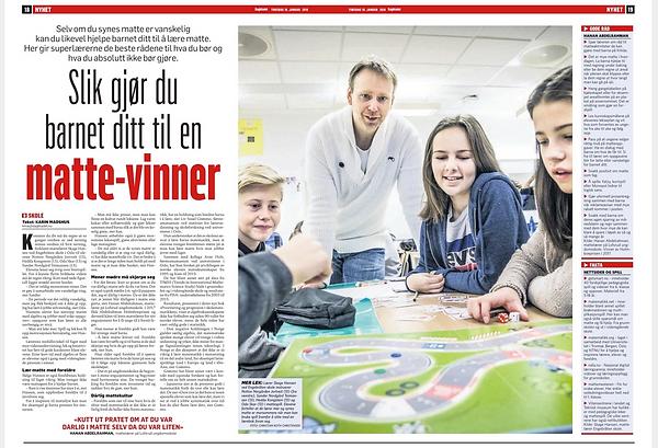 Algeprix er linselus i Dagbladet. Faksimile fra Dagbladet 18.01.18 https://www.dagbladet.no/tema/slik-gjor-du-barnet-ditt-til-en-matte-vinner/68987274