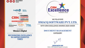 dMACQ recognised by CRN CLS 2020 - Indian Express Group for Document Management System