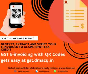 dMACQ launches Ind-GST QR Code decryption and verifier web portal - gst.dmacq.in