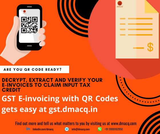 dMACQ launches Ind-GST QR Code decryption and verifier web portal - gst.dmacq.in