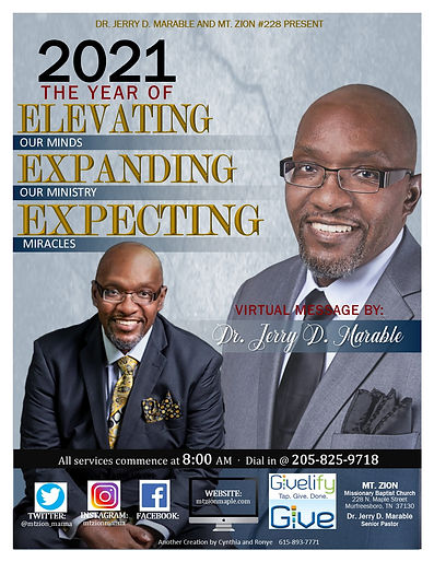 Mt Zion Virtual January with Dr. Marable