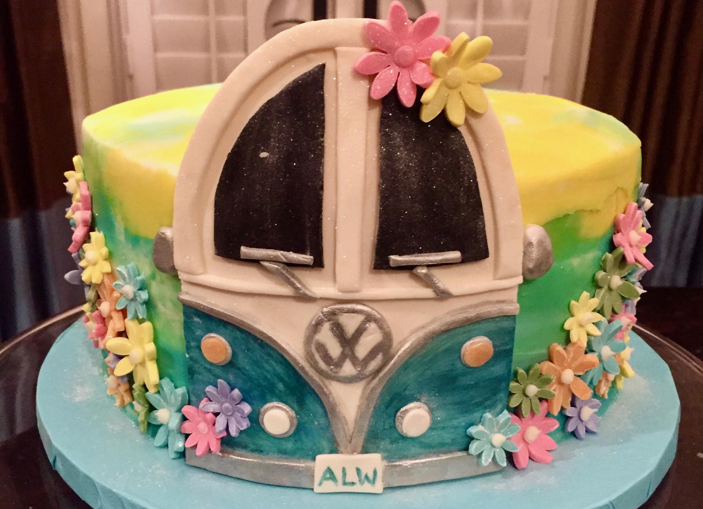 VW Van Birthday Cake