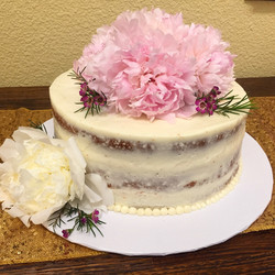 Fresh Flower Naked Smash Cake
