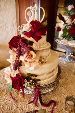 Antique Naked Wedding Cake