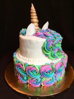 Unicorn Birthday Cake (back)