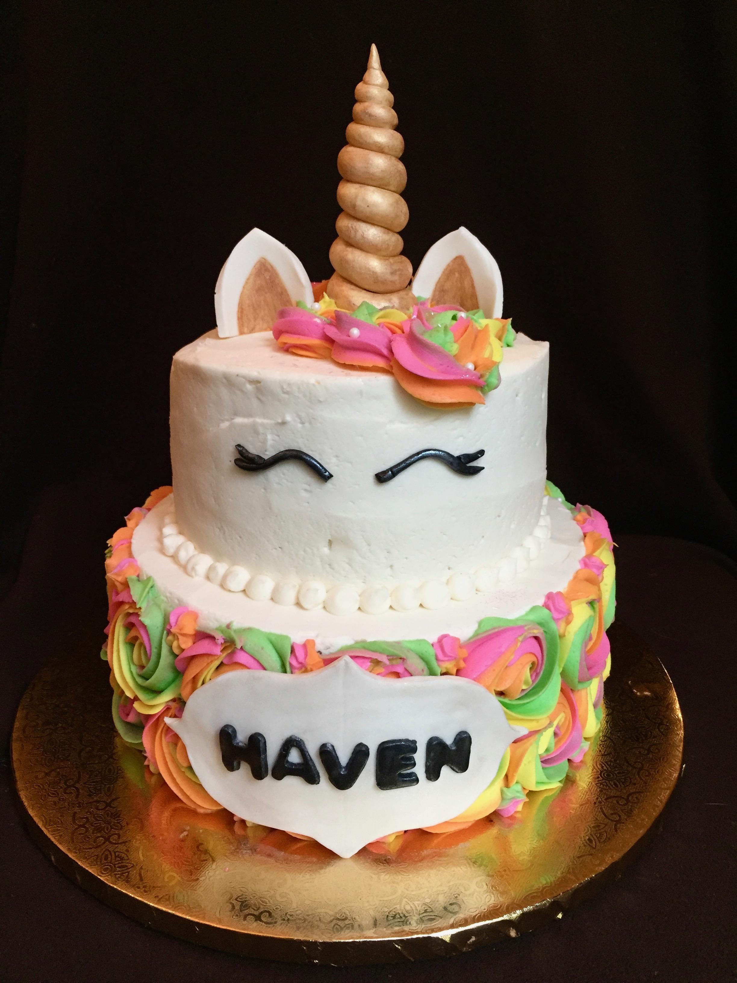 Unicorn Birthday Cake (front 2)