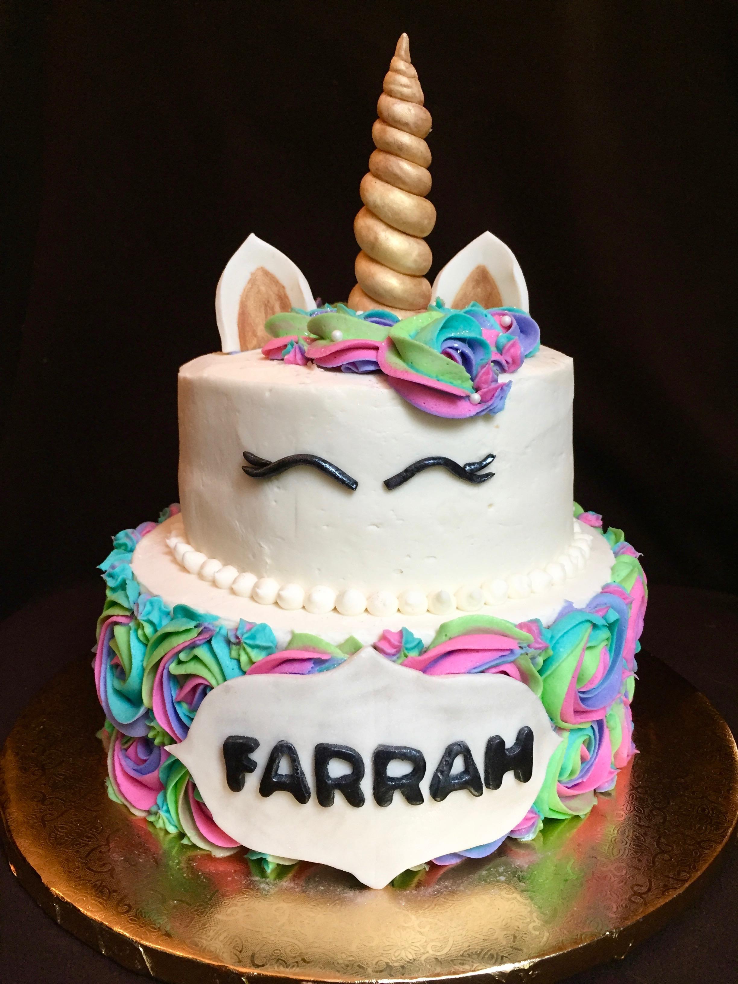 Unicorn Birthday Cake (front)