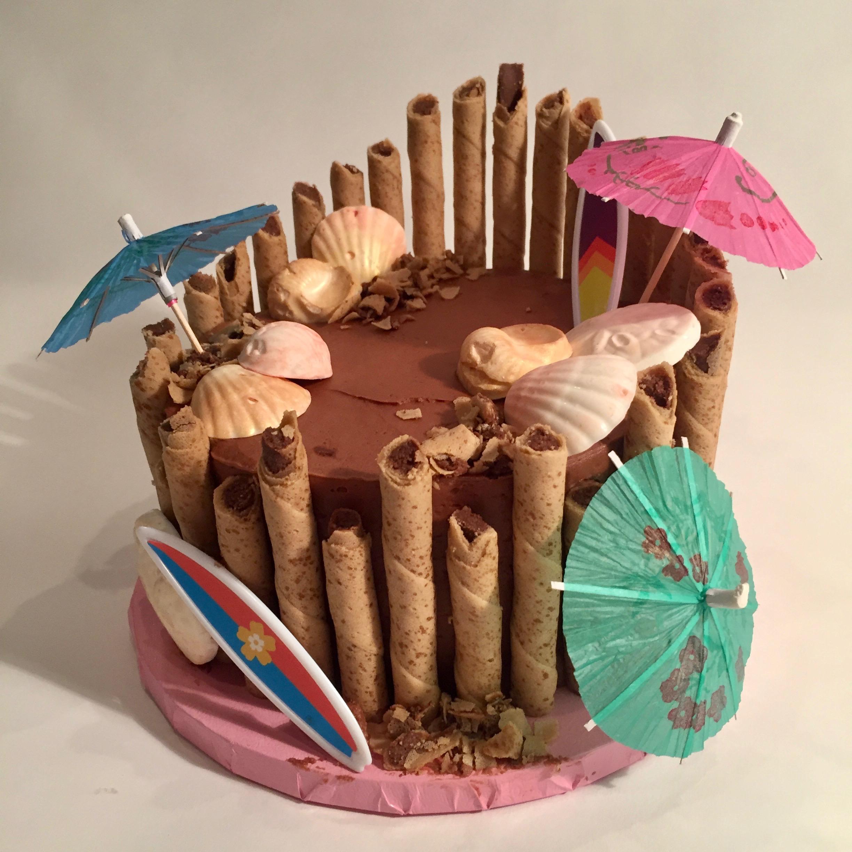 Tiki-Themed Birthday Cake