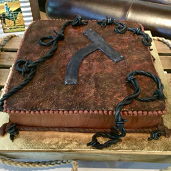 Tooled Leather and Brand Grooms Cake