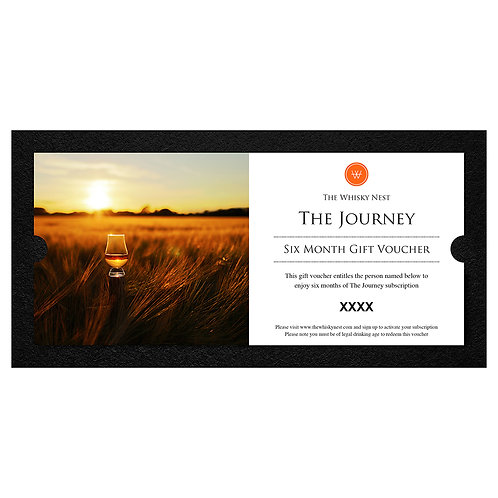 The Journey Six Month Gift Voucher