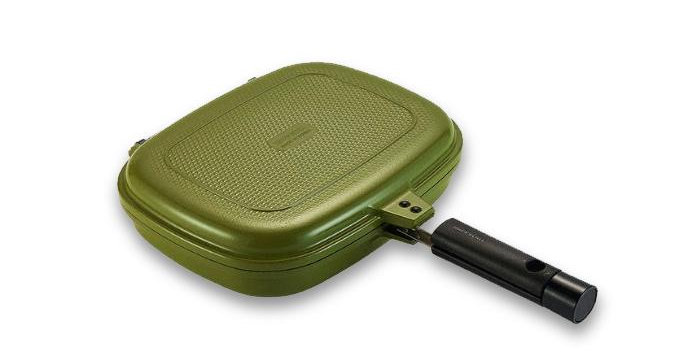 Happycall Double Pan 2.0 Detachable Jumbo Grill  Color  Sand Olive Full View
