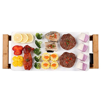 SOGA Electric Ceramic BBQ Grill Non-stick Surface Hot Plate for Indoor & Outdoor