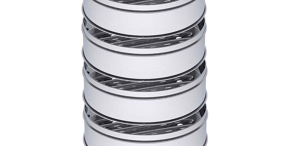 SOGA 5 Tier 28cm Stainless Steel Steamers With Lid Work inside of Basket Pot Ste