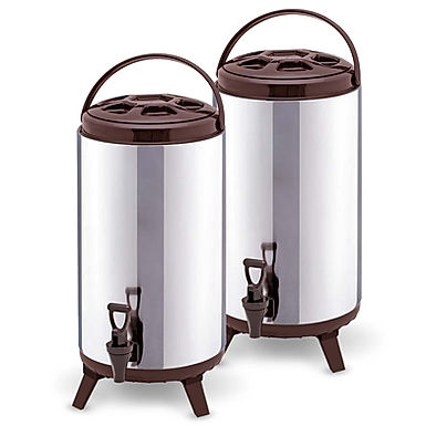 SOGA 2X 18L Portable Insulated Cold/Heat Coffee Tea Beer Barrel Brew Pot With Di