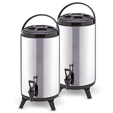 SOGA 2 x 12L Portable Insulated Cold/Heat Coffee Tea Beer Barrel Brew Pot With D