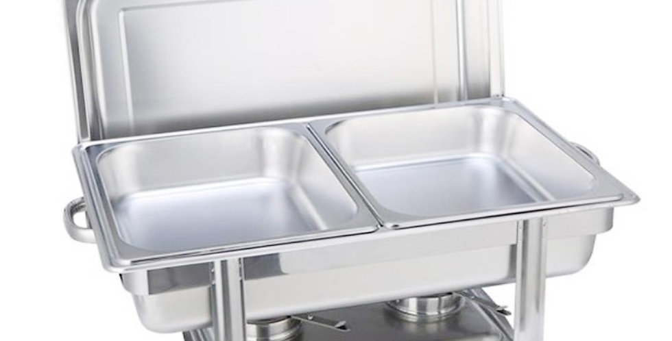 SOGA 4.5L Double Tray Stainless Steel Chafing Catering Dish Food Warmer
