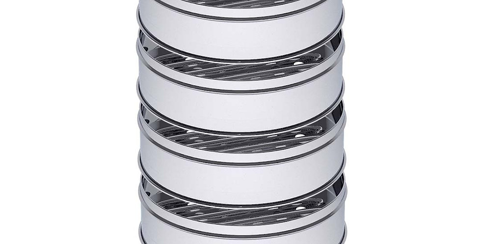 SOGA 5 Tier 25cm Stainless Steel Steamers With Lid Work inside of Basket Pot Ste