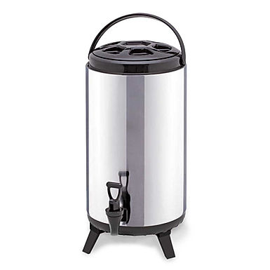 SOGA 12L Portable Insulated Cold/Heat Coffee Tea Beer Barrel Brew Pot With Dispe