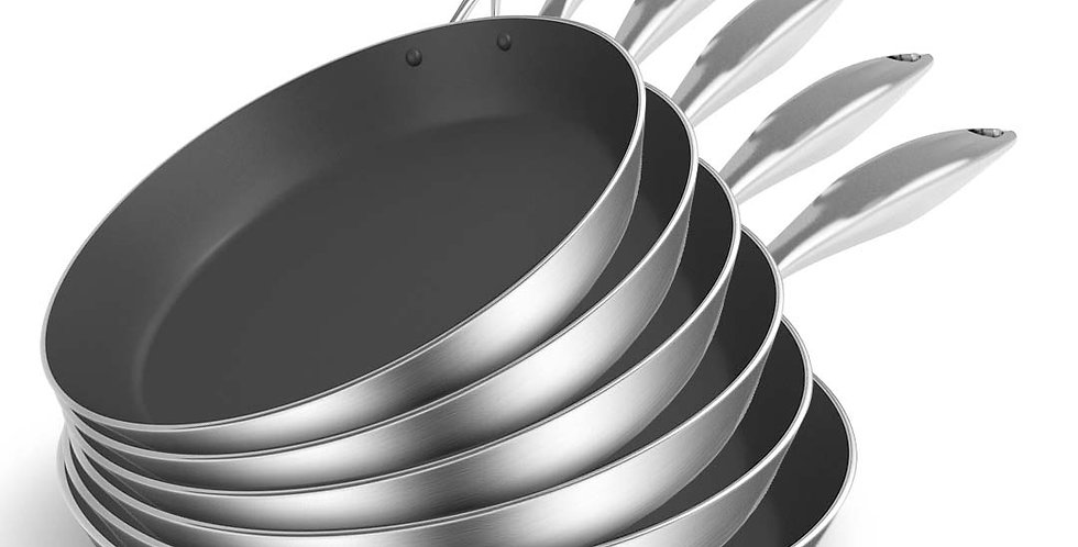 SOGA 6X Stainless Steel Fry Pan Frying Pan Induction FryPan Non Stick