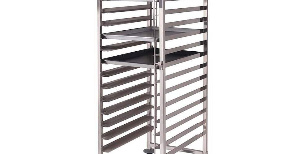 SOGA Gastronorm Trolley 16 Tier Stainless Steel Cake Bakery Trolley 60*40cm