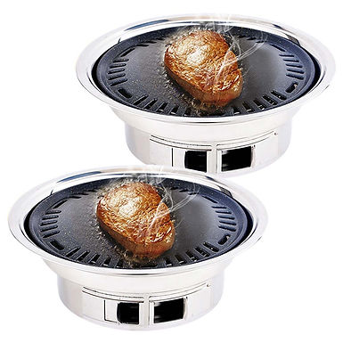 SOGA 2x BBQ Grill Stainless Steel Portable Smokeless Charcoal Grill Home Outdoor
