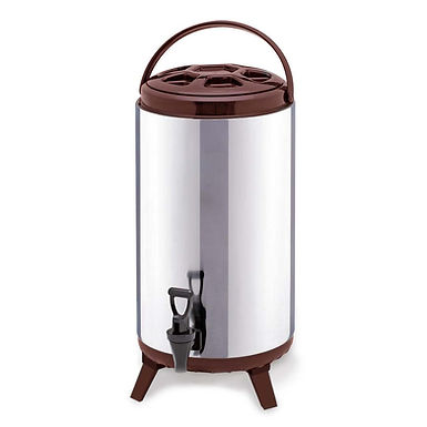 SOGA 16L Portable Insulated Cold/Heat Coffee Tea Beer Barrel Brew Pot With Dispe