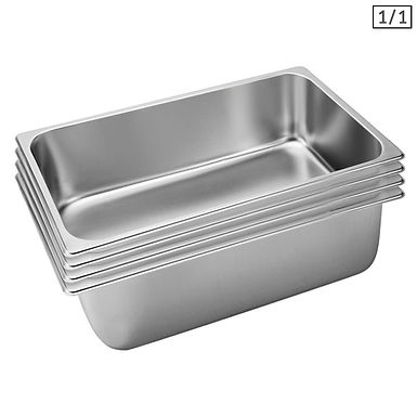 SOGA 4X Gastronorm GN Pan Full Size 1/1 GN Pan 20cm Deep Stainless Steel Tray