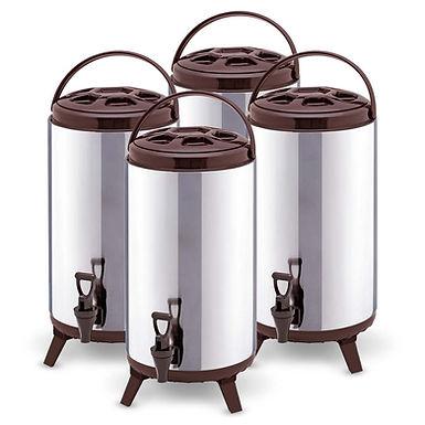 SOGA 4X 18L Portable Insulated Cold/Heat Coffee Tea Beer Barrel Brew Pot With Di