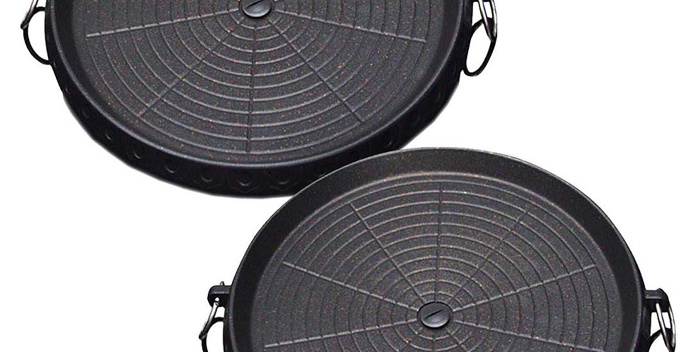 SOGA 2x Portable Korean BBQ Butane Gas Stove Stone Grill Plate Non Stick Coated