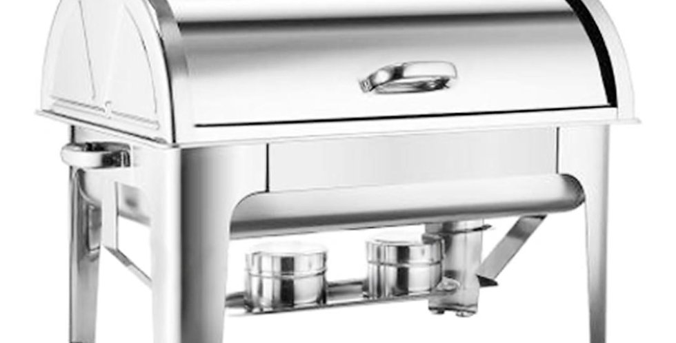 SOGA 3L Triple Tray Stainless Steel Roll Top Chafing Dish Food Warmer